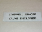 decal Livewell on-off Valve