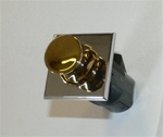 Southco Point Latch Push to Close Square Chrome/Brass