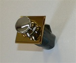 Southco Point Latch Push to Close Square Brass/Chrome