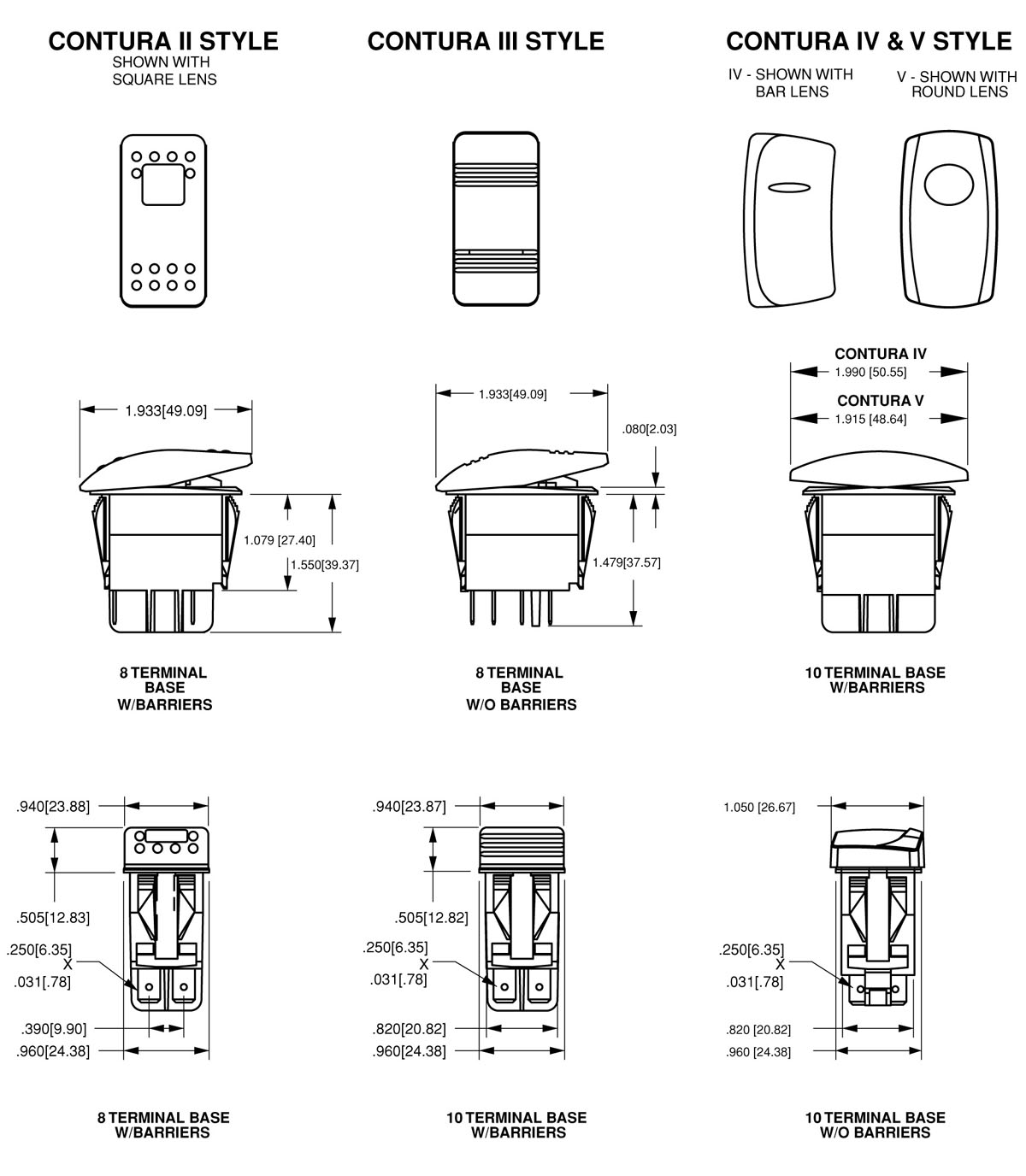 Contura Rocker Switch Wiring Diagram : Carling rocker switches