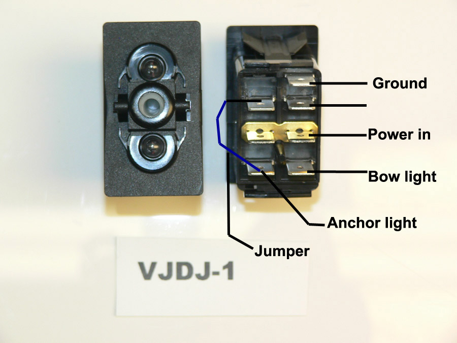 Carling Rocker switches – Lighted Momentary Switch Wiring Diagram