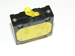 Circuit Breaker TOGGLE YELLOW round cutout