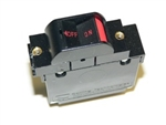 Carling guarded rocker style circuit breaker with red horizontal lettering 2 AMP