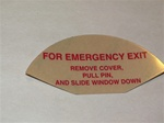 decal Warning, For Emergency Exit