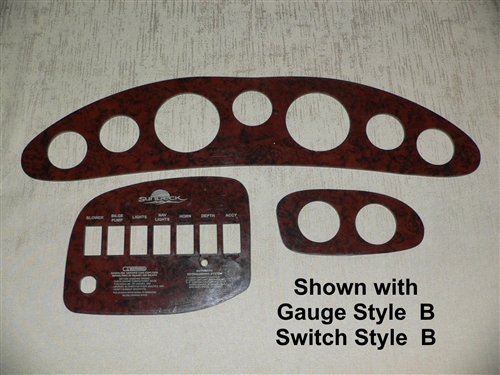 210 Sundeck Reproduction Instrument and Switch Panel Set for 1998 - 2002  Sea Ray