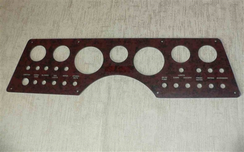 Reproduction Instrument Panel for Pathfinder Boats