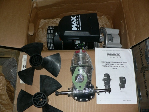 Max Power 24volt Bow Thruster Mpspc924 165kg 250mm 24v