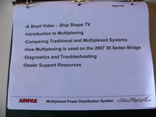 Sea Ray Manual for Multiplex systems