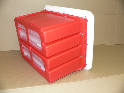 Paragon Plastics Heavy Duty 4 Drawer Tackle Storage Locker