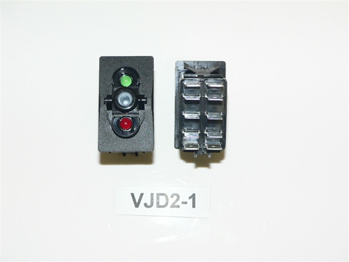 VJD2 1 2 carling on off on double pole rocker switch, red and green led Basic Electrical Wiring Diagrams at aneh.co