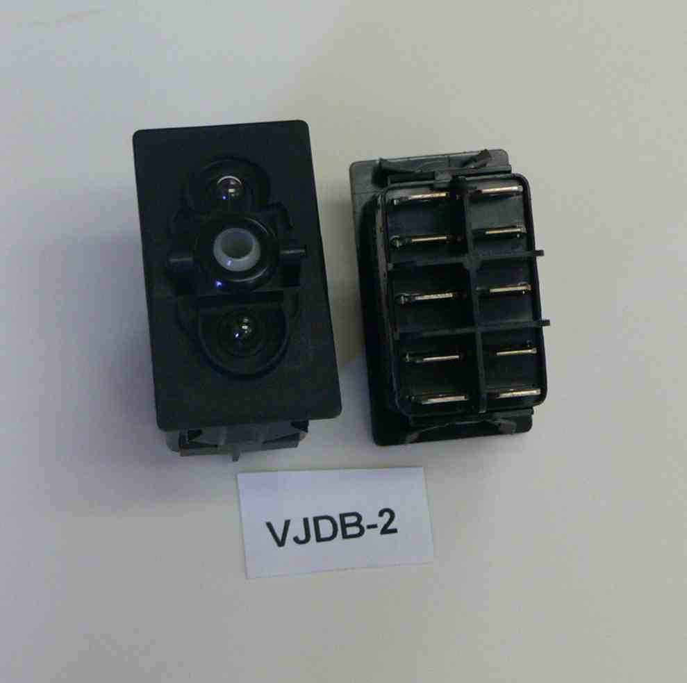 Carling ON/OFF/ON double pole rocker switch, independent lamps. 10 ...
