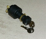 Keyed ignition switch. (Accessory-Off-Ignition- Start) 4 screw terminals. Keyswitch